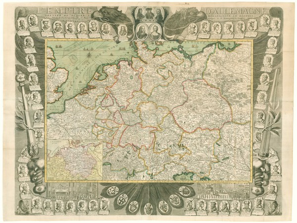 De Fer Germany wall map