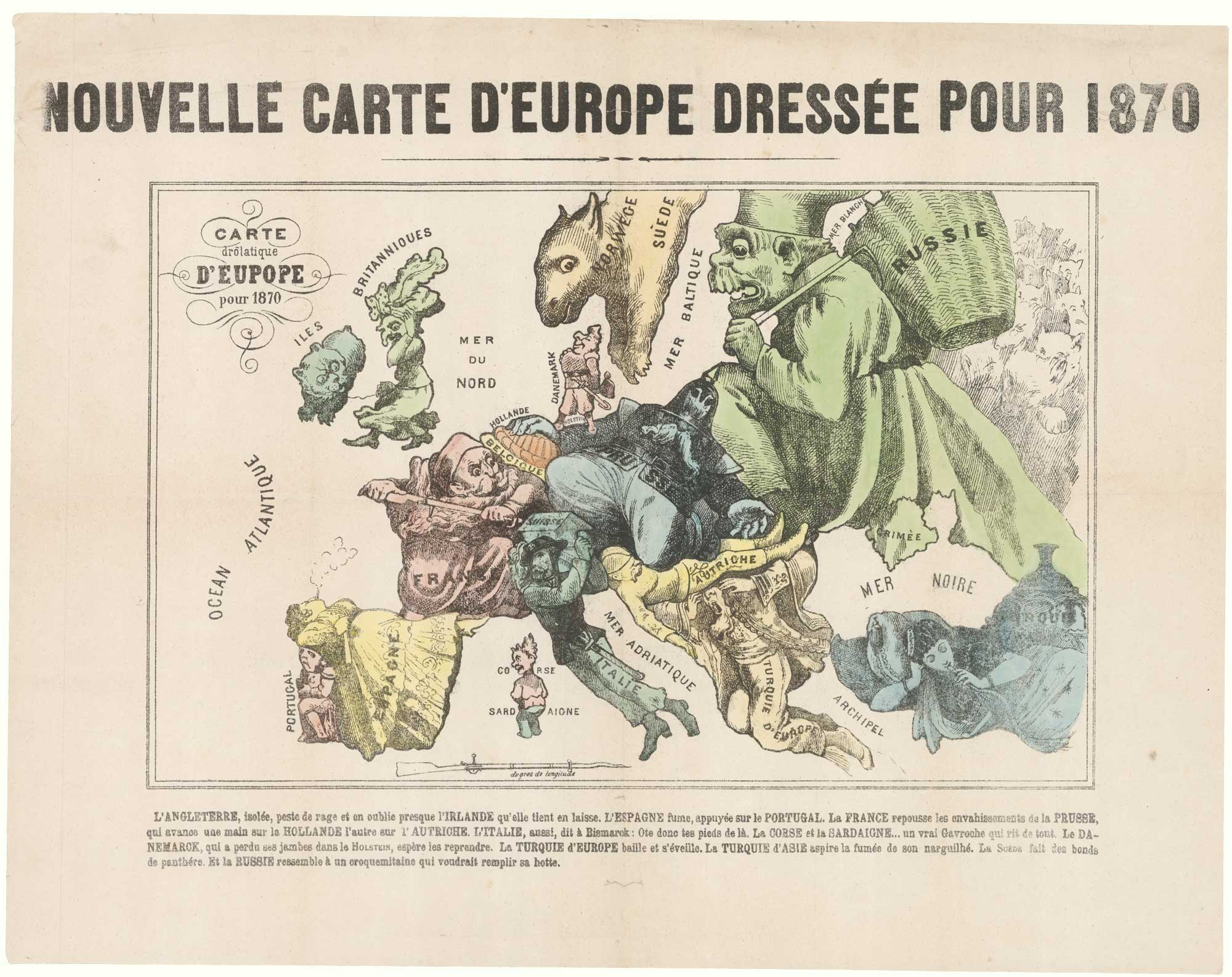 Hadol serio-comic map of Europe
