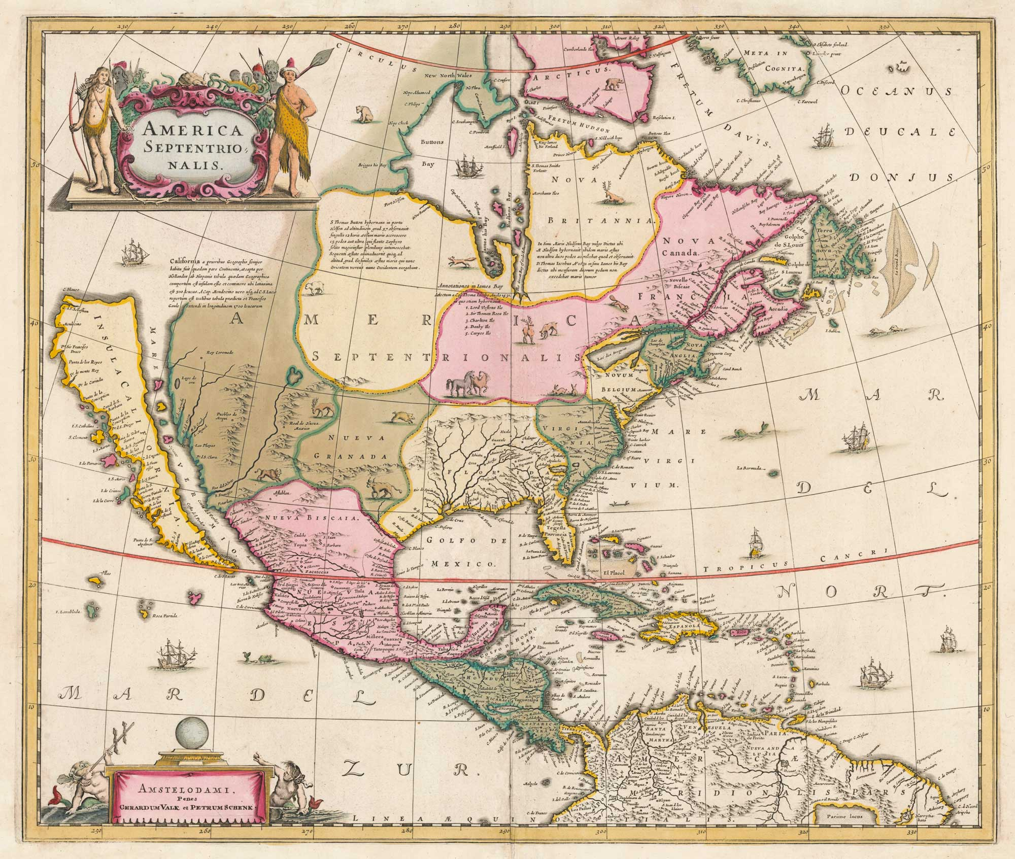 Hondius North America 1700