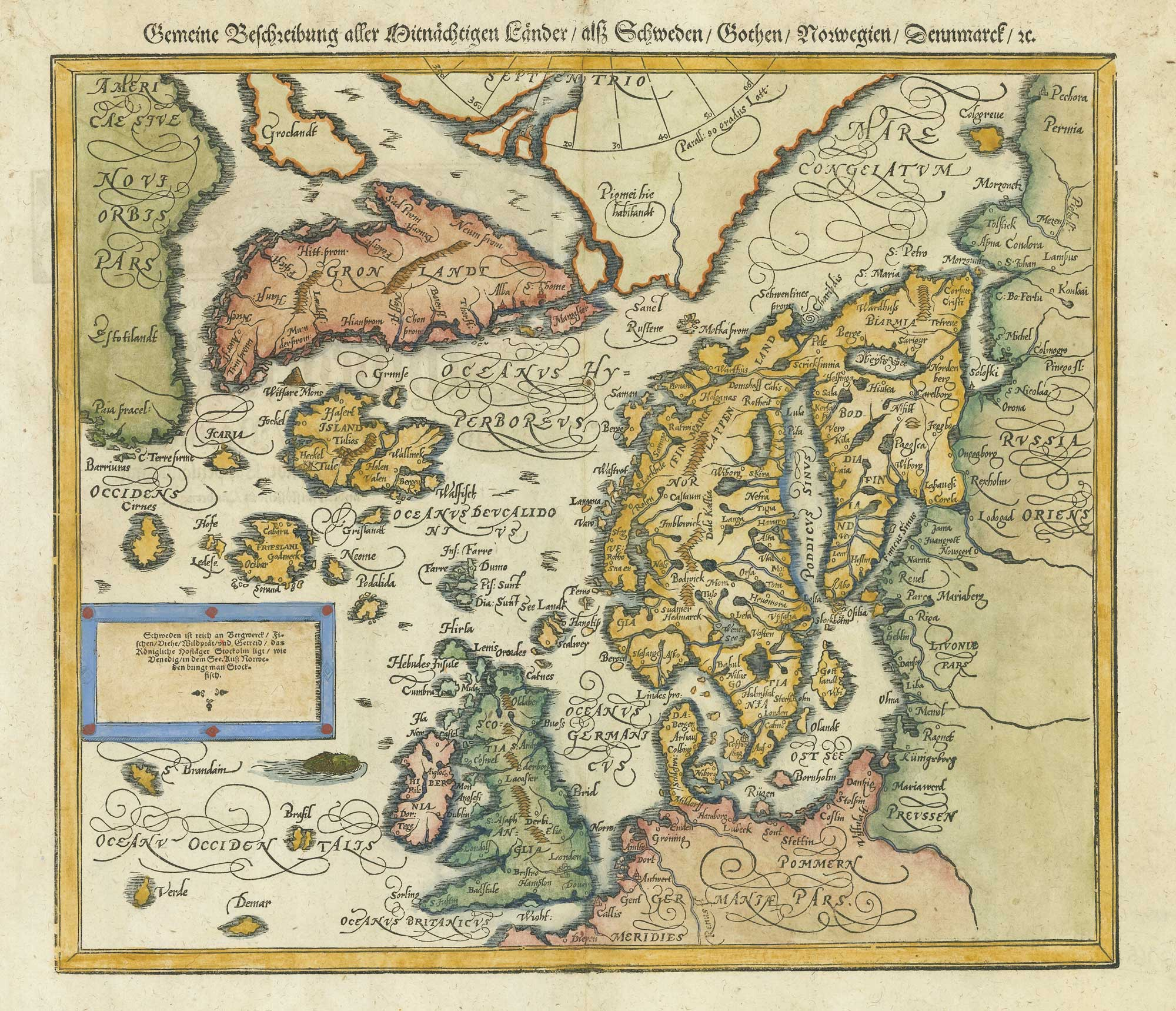Munster Scandinavia after Ortelius