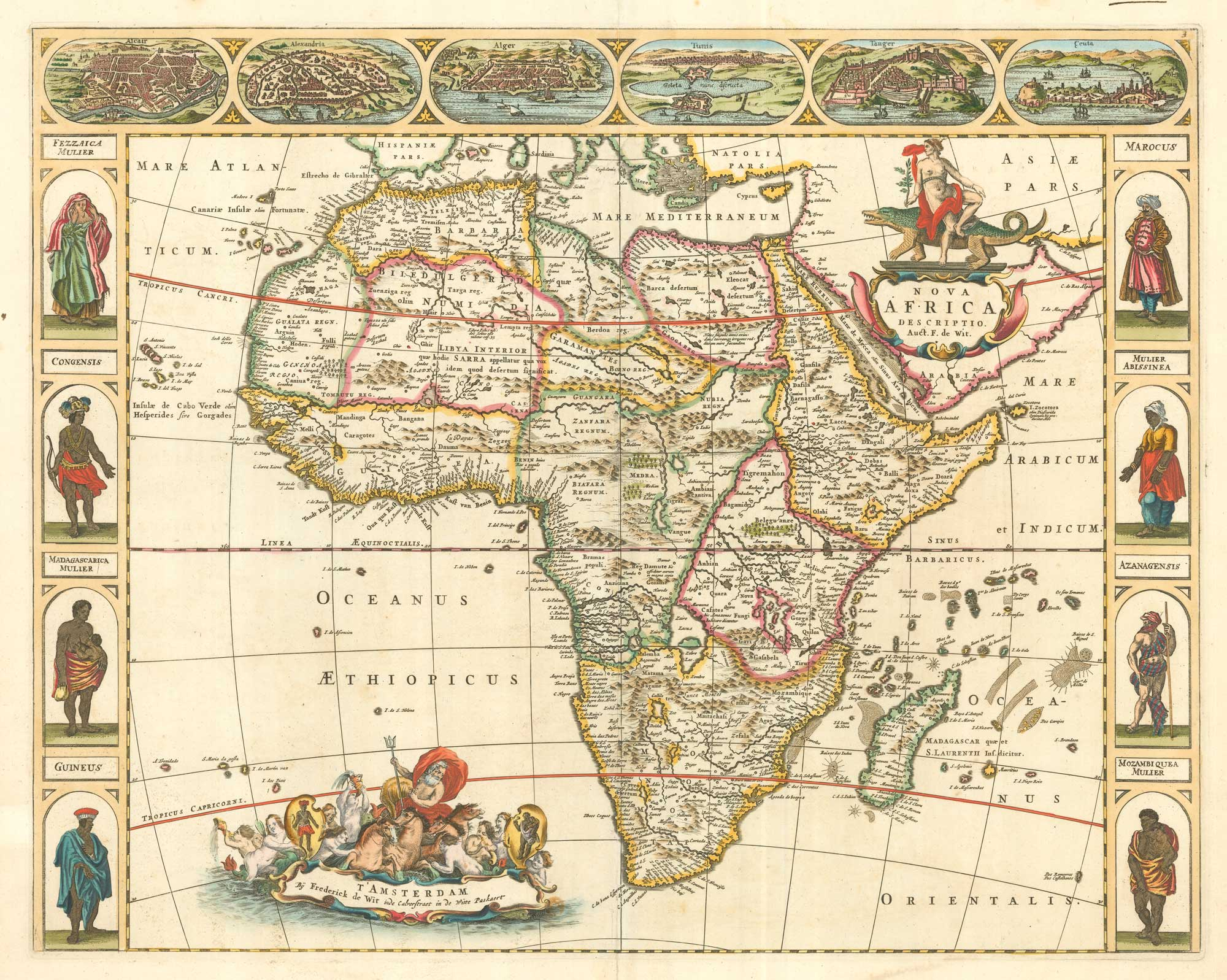 De Wit Africa Carte à Figure