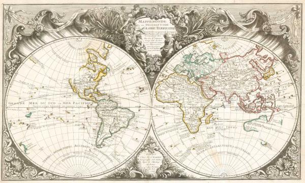 Robert de Vaugondy World 1743