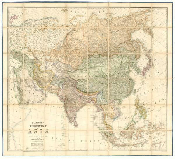Johnston Asia wall map