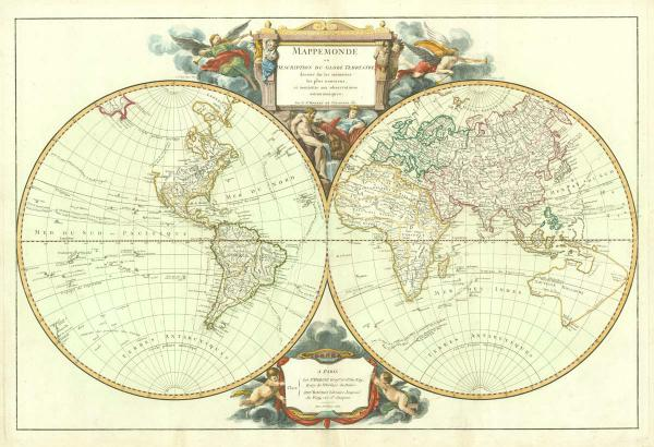 Robert de Vaugondy World  1752