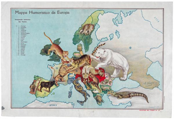 Soares Comic Map of Europe 1941