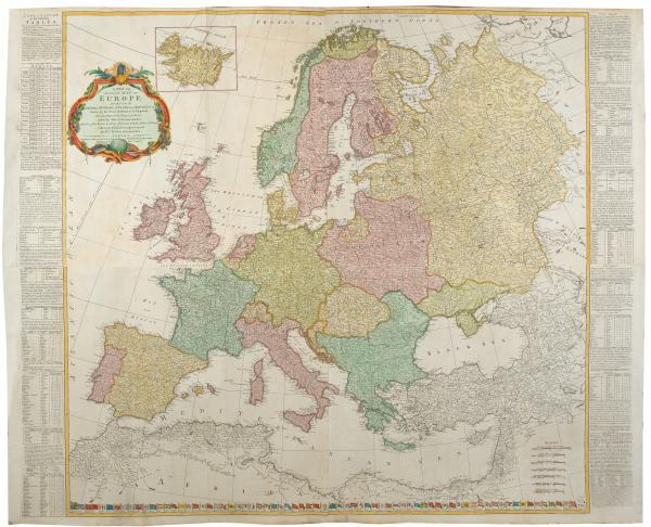 Kitchin Europe wall map 1772