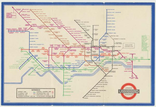 Beck Tube Map 1936 Issue 2