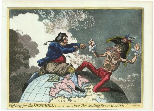 Gillray Fighting for the Dunghill