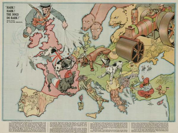 Johnson Riddle Serio-Comic map of Europe